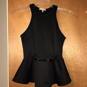 Forever 21 Peplum Top with Gold Accent